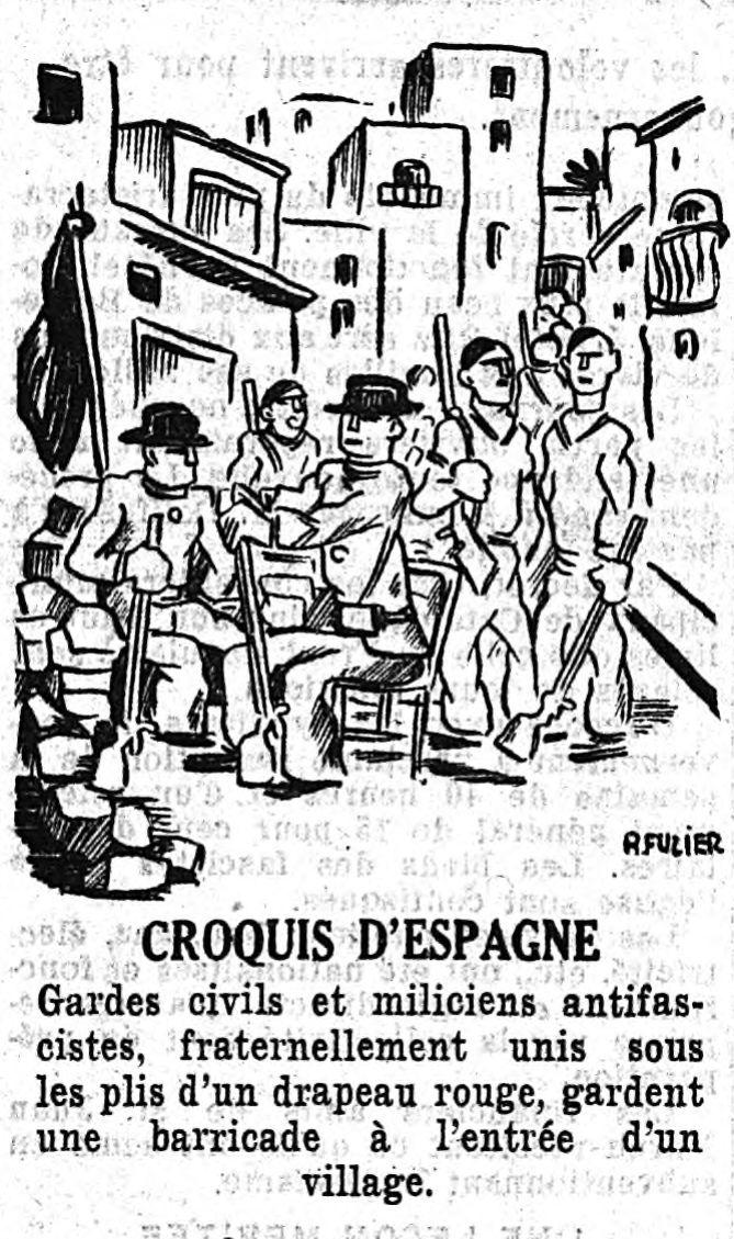ESPAGNE 36 3 FUZIER Le Pop 28 juillet 36 p. 1